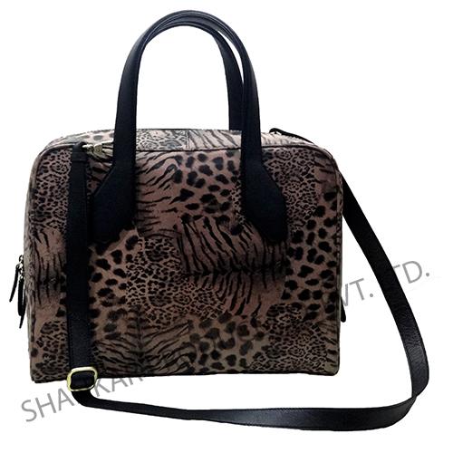 Animal Print Leather Weekender bag