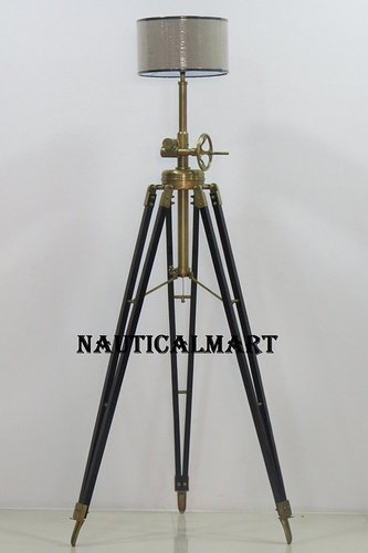 Marine Designer Royal Tripod Floor Lamp With Modern Lampshade