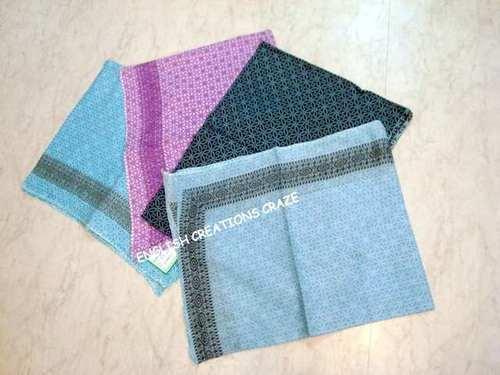 Cotton with silk jacquard borderA Scarves