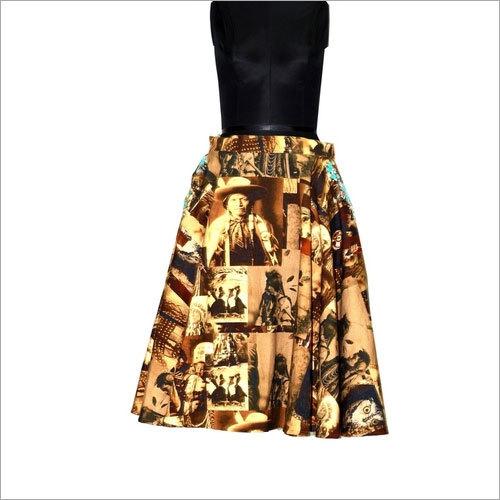 Wanted Skirt Printed turq stone