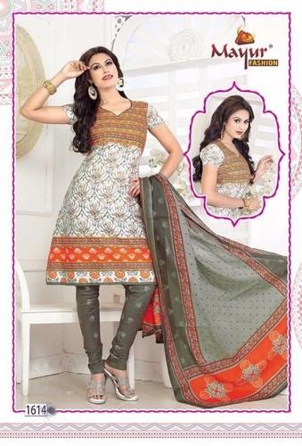Latest Designer Cotton Dress Materials
