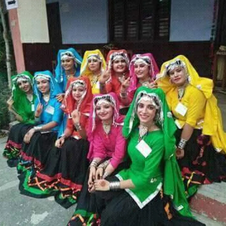 Punjabi Giddha Dance Costume