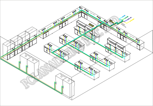 Gas / Utility Pipe Routing Through Floor