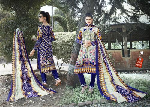 Pure Karachi Cotton Dress Materials Wholesale