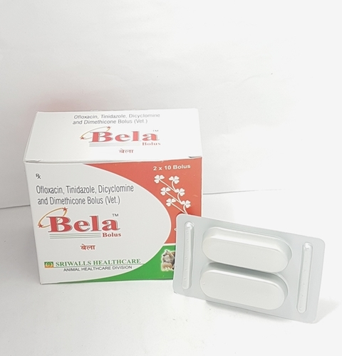 Bela Ofloxacin, Tinidazole, Dicyclomine and Dimethicone Bolus (Bela)