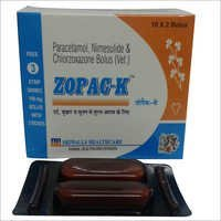 Zopac-K Nimesulide Paracetamol Chlorzoxazone Bolus