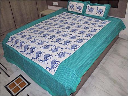 Block Printed Cotton Bed Sheets