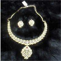 Gold Plates Necklace Set