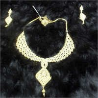 Gold Plates Fashion Necklace Set