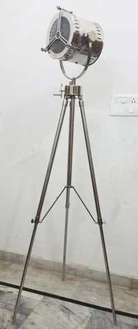 Nautical Studio Floor Lamp Searchlight Collectible Spot Light With Metal Tripod Stand