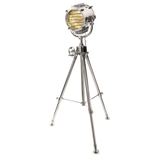 Replica Spotlight - Tripod Floor Lamp, Nautical Searchlight, Spotlight, Antique, Marine Decor