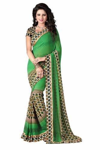 Designer printed Sari