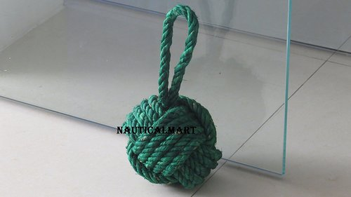 Beautiful Green Knot Heavy Door Stopper For Home