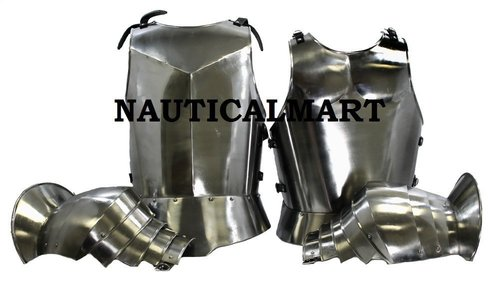 Medieval Knight Armor Breastplate With Spaulders