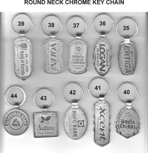 ROUND NECK CHROME KEY CHAIN (4)