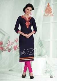Kajal Style Cotton Kurtis Catalog