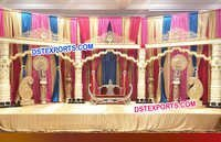 New Fiber Pillar Wedding Stage Decoration