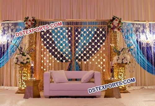 Candle Wedding Stage Backdrop