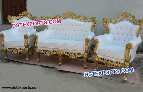 Gold Royal Luxury Wedding Carved Sofa Sets