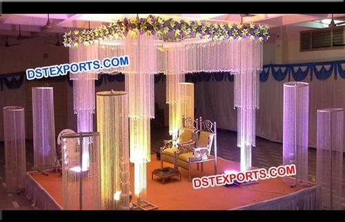 Hanging Crystal Wedding Mandap