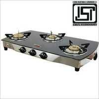 Three Burner Glass Top Black