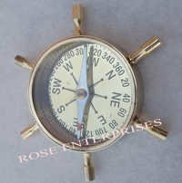 Nautical Brass Wheel Compass
