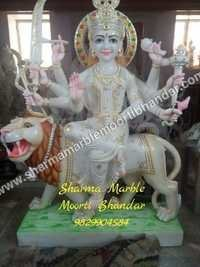 Lord Durga Marble Sculpture