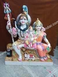 lord Shiv Parwati Marble Statue