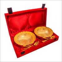 Gold Plated Brass Bowl Set