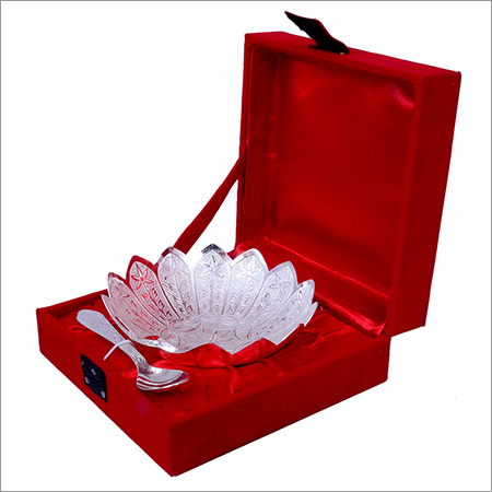 Silver Plated Floral Shaped Bowl Set