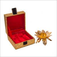 Gold Plated Handi Shape Brass Bowl