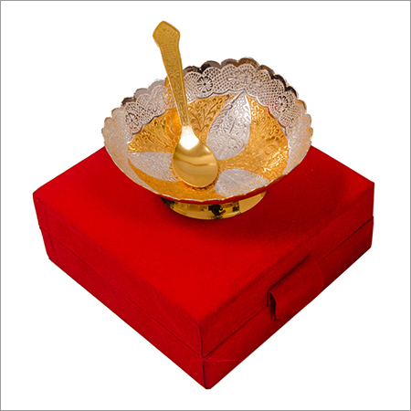Festival Gift Silver Gold Plated Brass Bowl