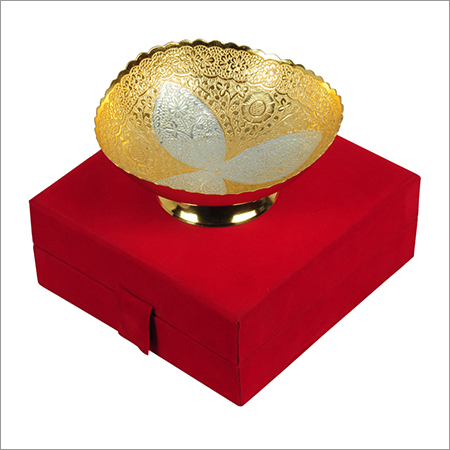 Silver Gold Plated Decorative Bowl