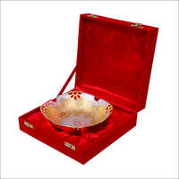 Gold Plated Decorative Brass Bowl
