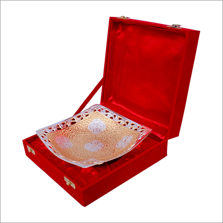 Silver Gold Plated Square Shaped Bowl Set