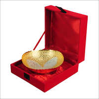 Silver Gold Plated Brass Bowl Set