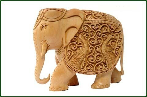 Wooden Carving Sculpture Elephant