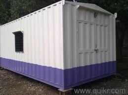 White And Purple Portable Modular Cabin