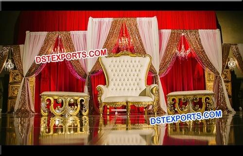 Asian Wedding Reception Throne Chair