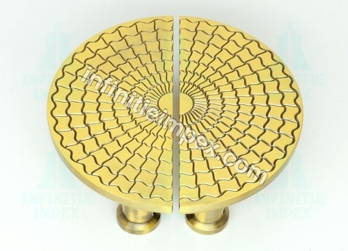 Brass Designer Half Round Pull Handle
