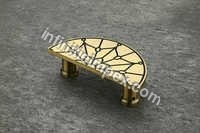 Brass Half Round Cabinet Handle