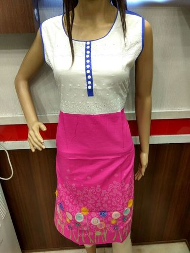 Printed Cotton Kurtis With Zip