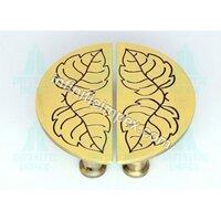 Brass Half Round Cabinet Handle