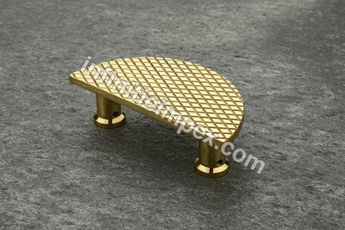 Brass Half Round Drawer Pull Handle