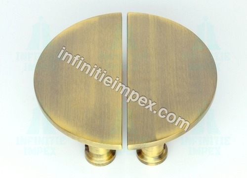 Gentil Brass Semi Circle Pull Handle