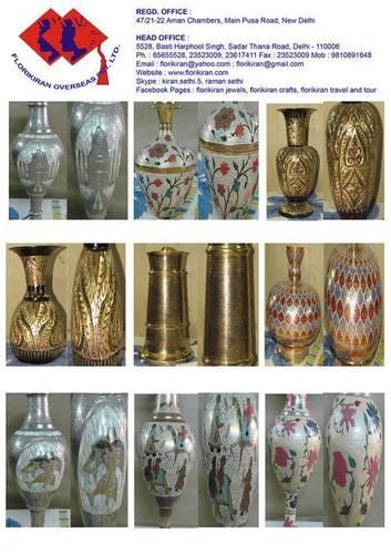 Designer Brass Flower Vases