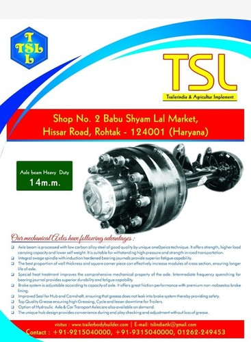 Heavy Duty Truck Rear Beam Axle