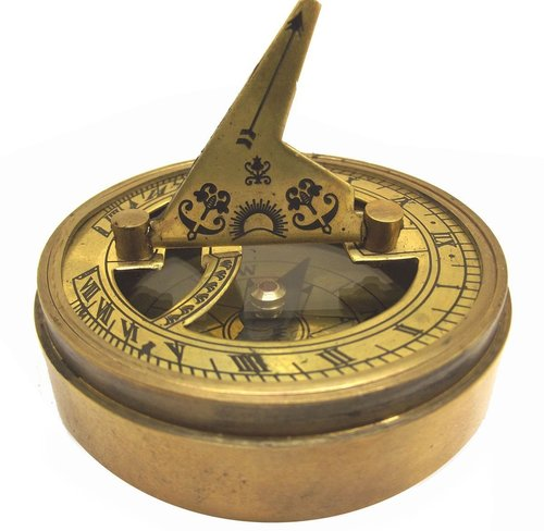 The Mary Rose Sundial Compass, 1545, Clock Regulator, Classic Heavy Brass & Copper