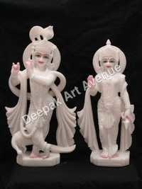 Radhe Krishan Marble Statue