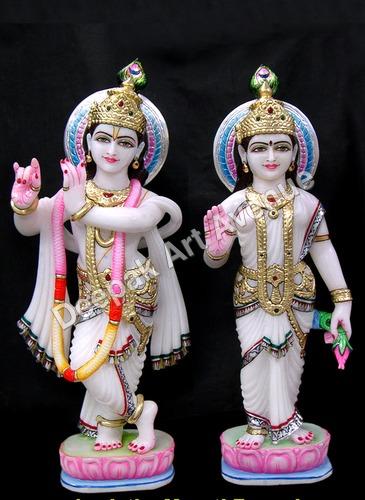Marble Radhey Shyam statue